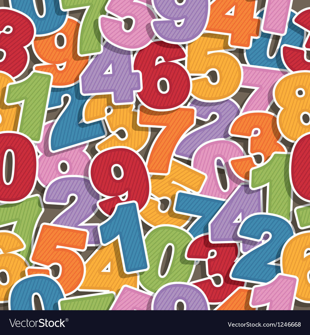 Number pattern vector | Price: 1 Credit (USD $1)