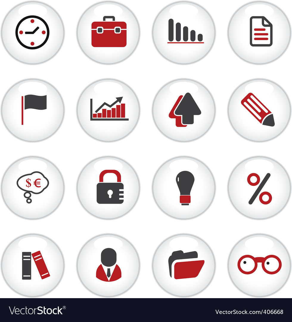 Presentation office buttons vector | Price: 1 Credit (USD $1)