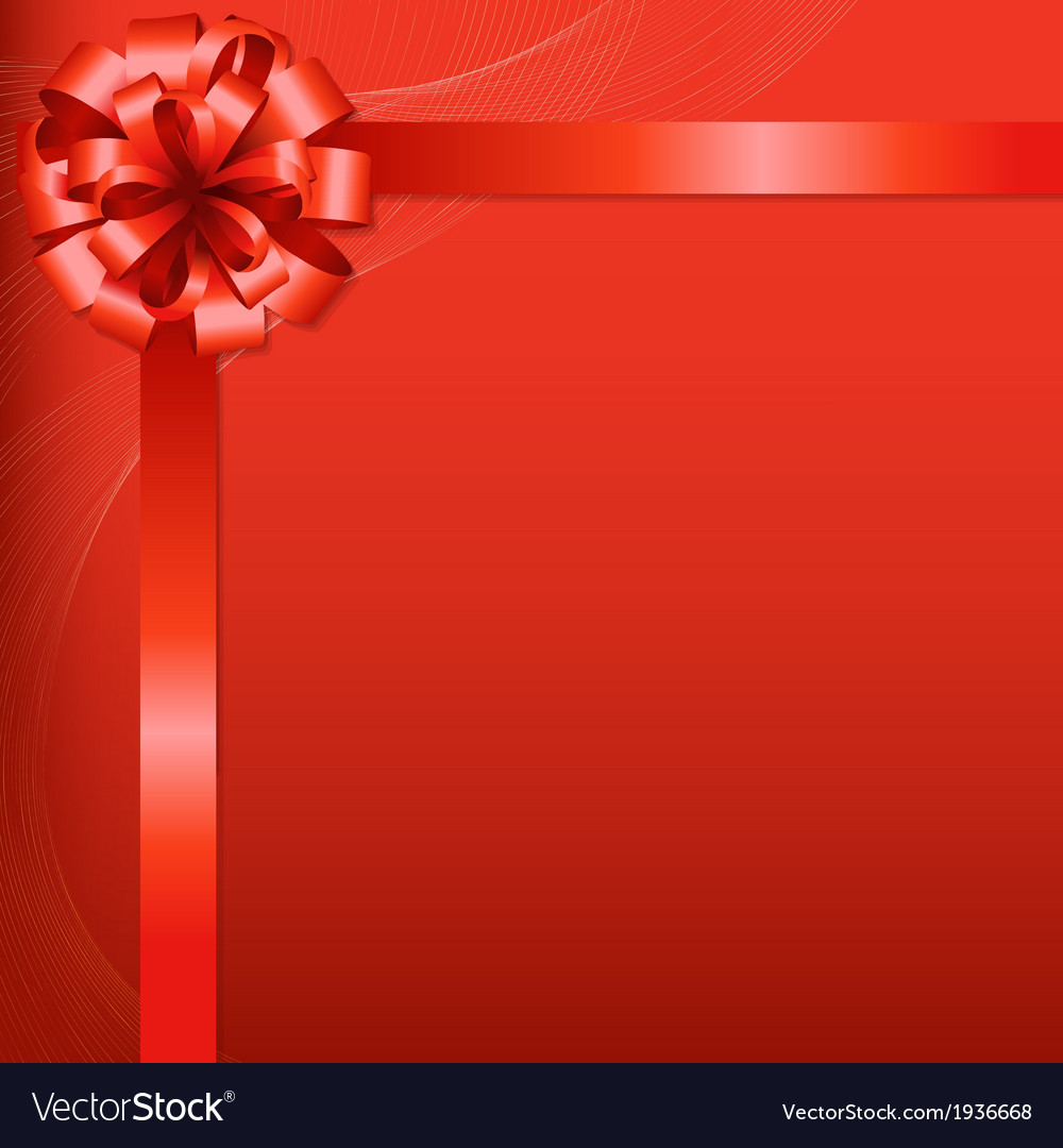 Red background with red bow vector   Price: 1 Credit (USD $1)