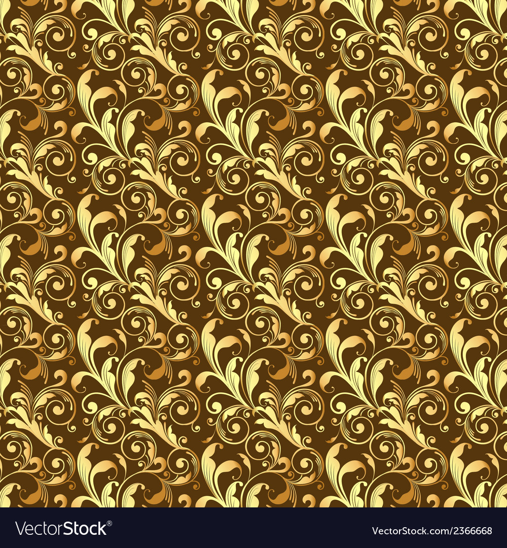 Seamless golden pattern vector | Price: 1 Credit (USD $1)