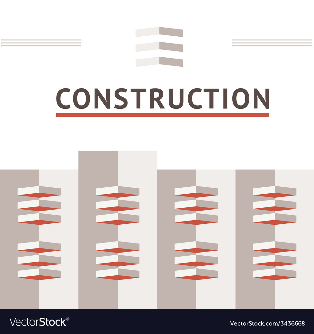 Symbol of the construction company vector | Price: 1 Credit (USD $1)