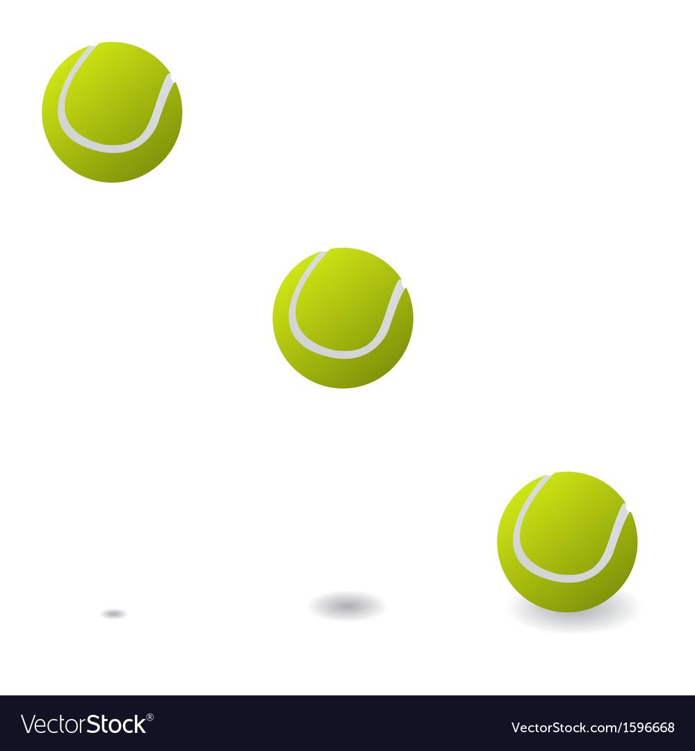 Tennis balls vector | Price: 1 Credit (USD $1)
