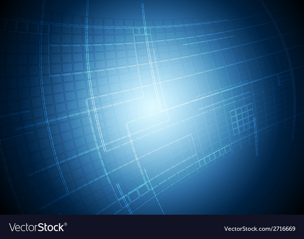 Abstract blue tech motion background vector | Price: 1 Credit (USD $1)