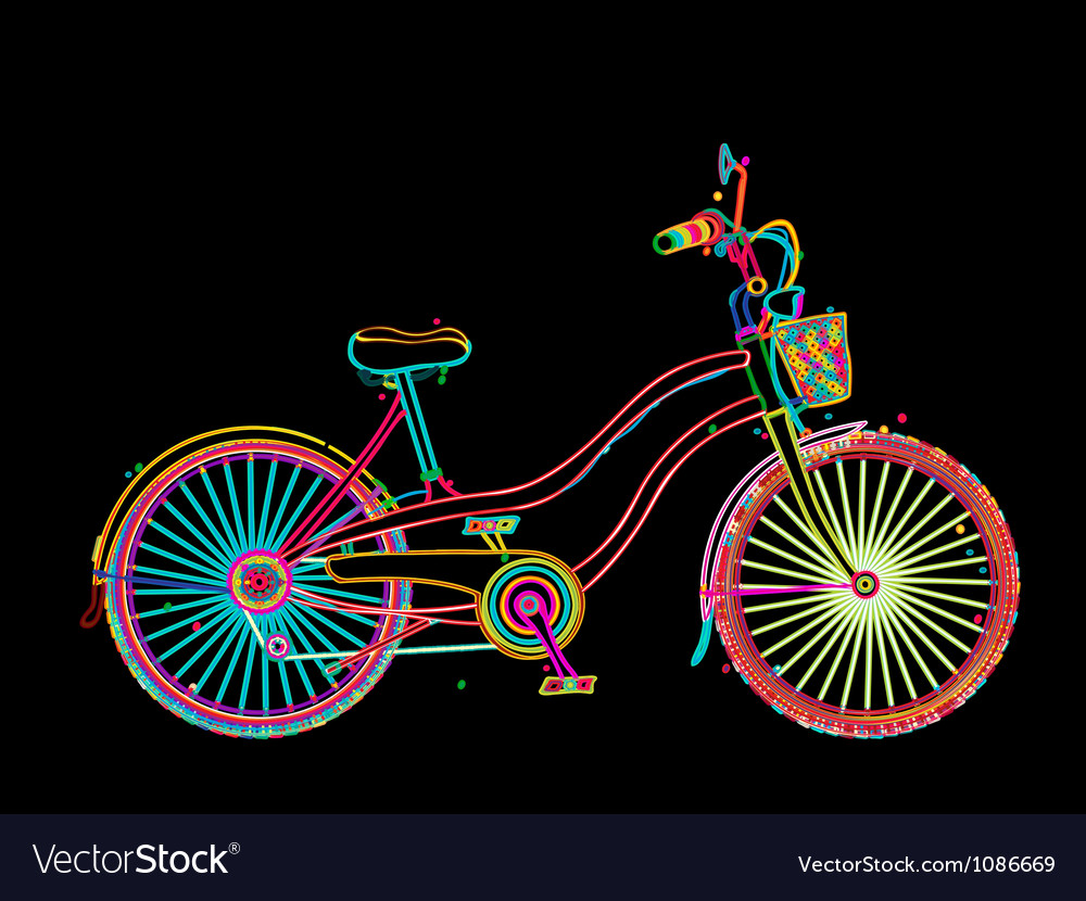 Artistic bicycle vector | Price: 1 Credit (USD $1)