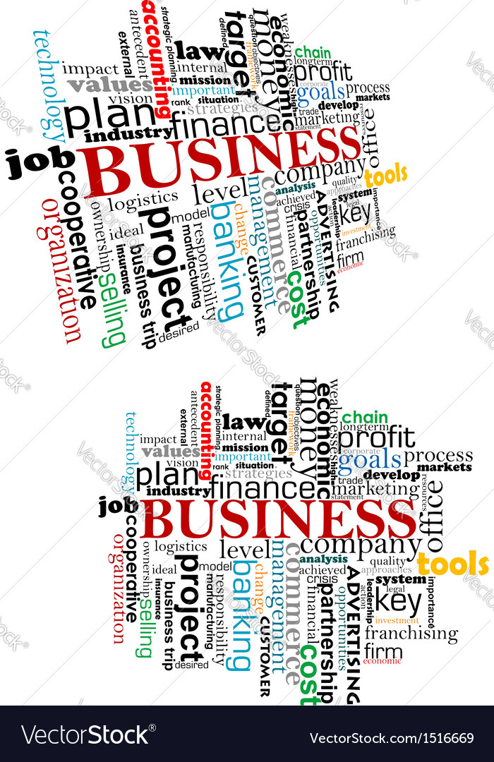 Business tag cloud vector | Price: 1 Credit (USD $1)