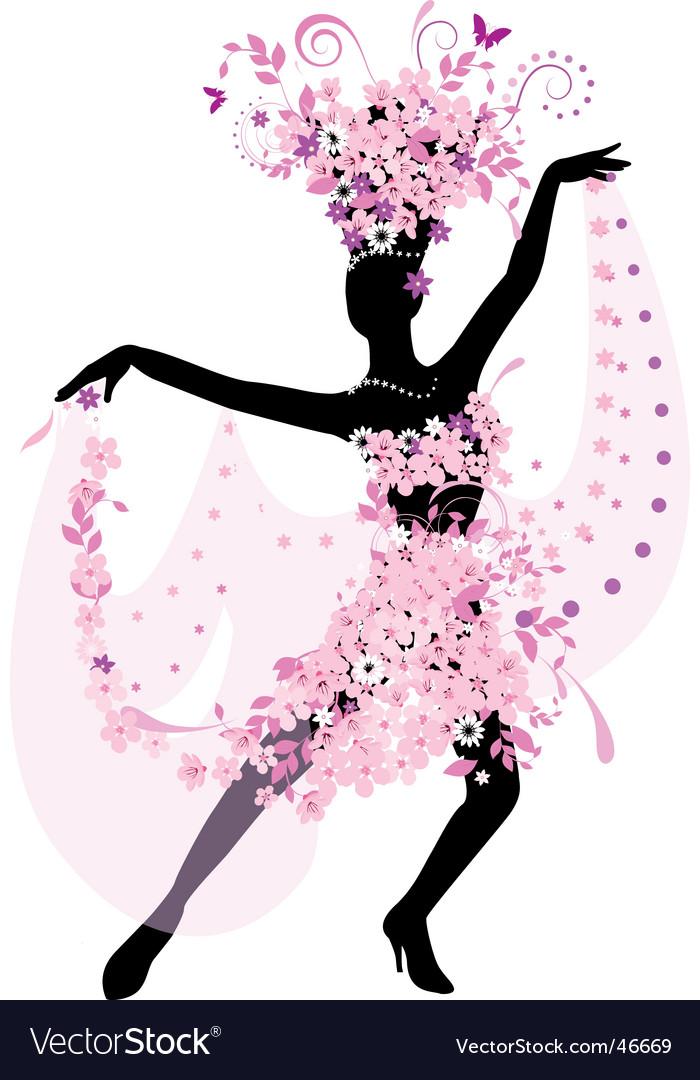 Dance silhouette vector | Price: 1 Credit (USD $1)