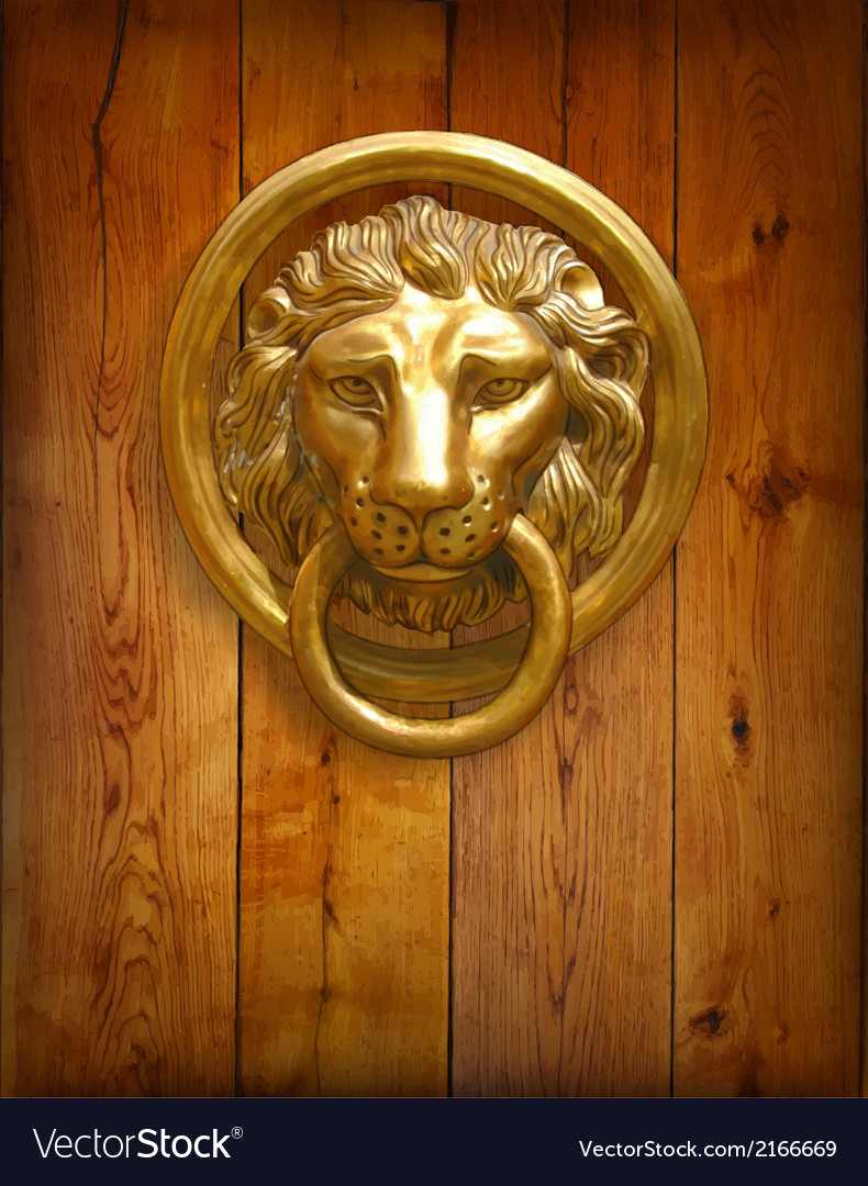 The door handle - the head of a lion vector | Price: 1 Credit (USD $1)