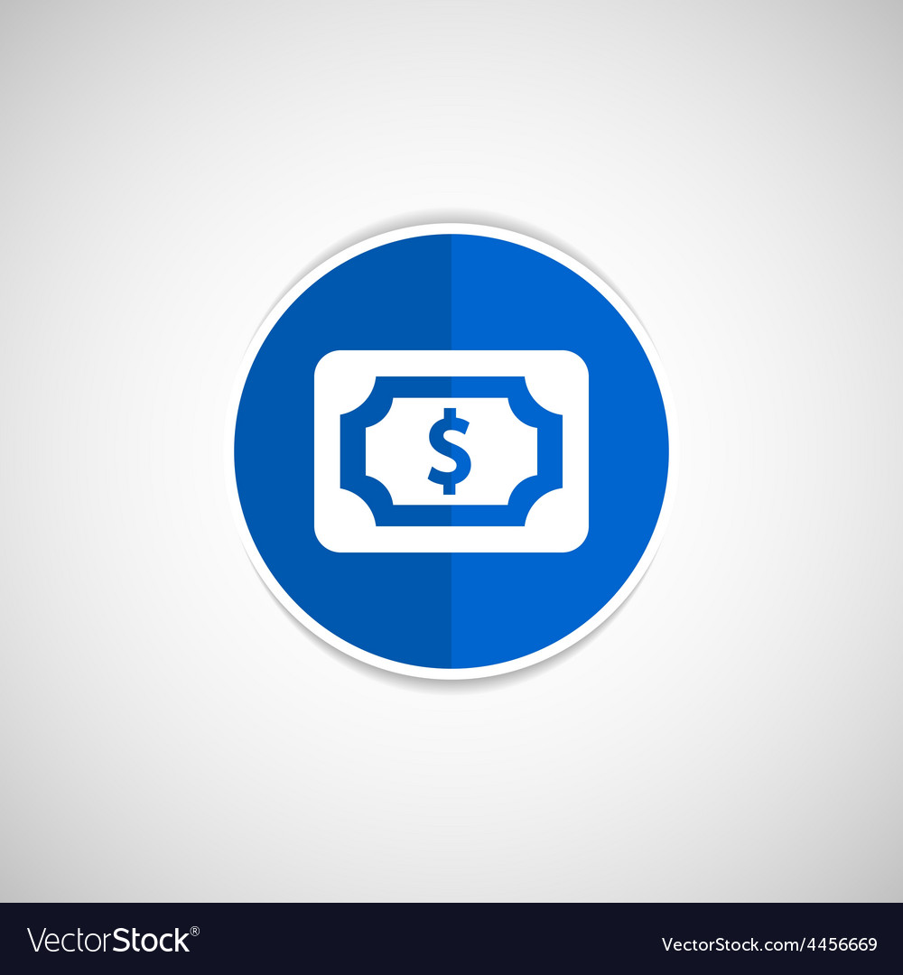 Flat icon of money market business sign symbol vector | Price: 1 Credit (USD $1)