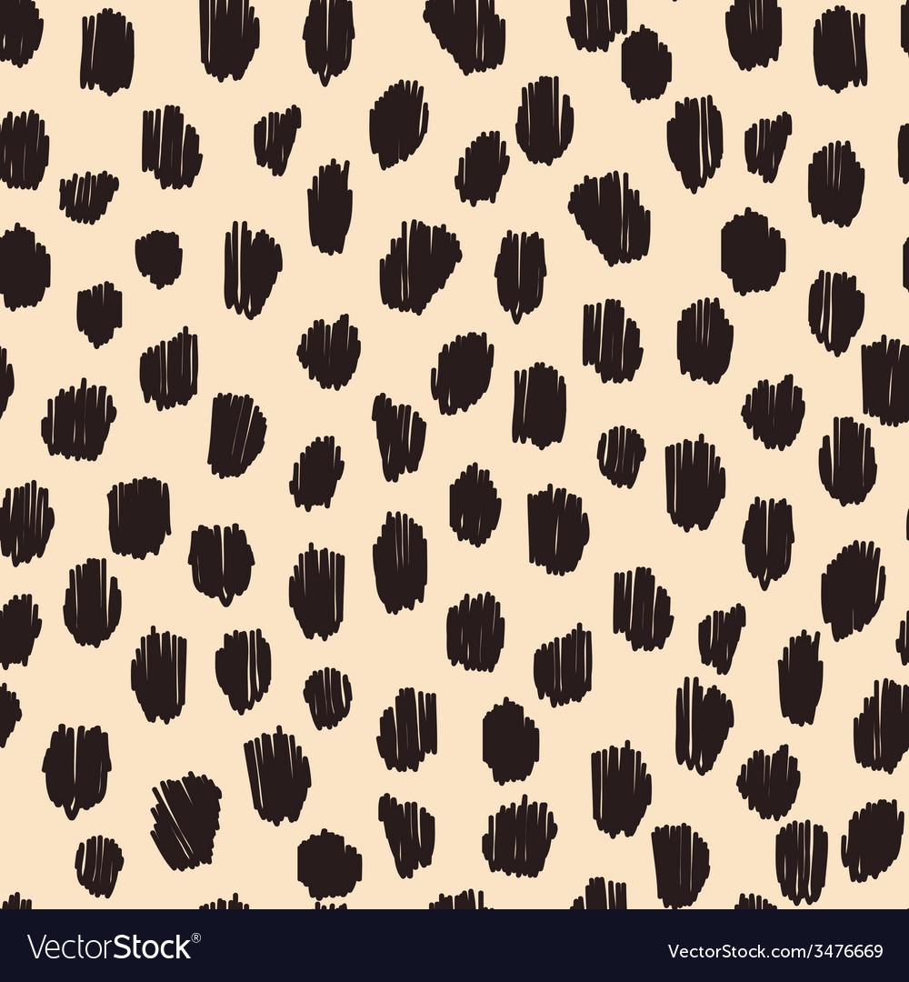Hand drawn seamless stylized animal skin pattern vector | Price: 1 Credit (USD $1)