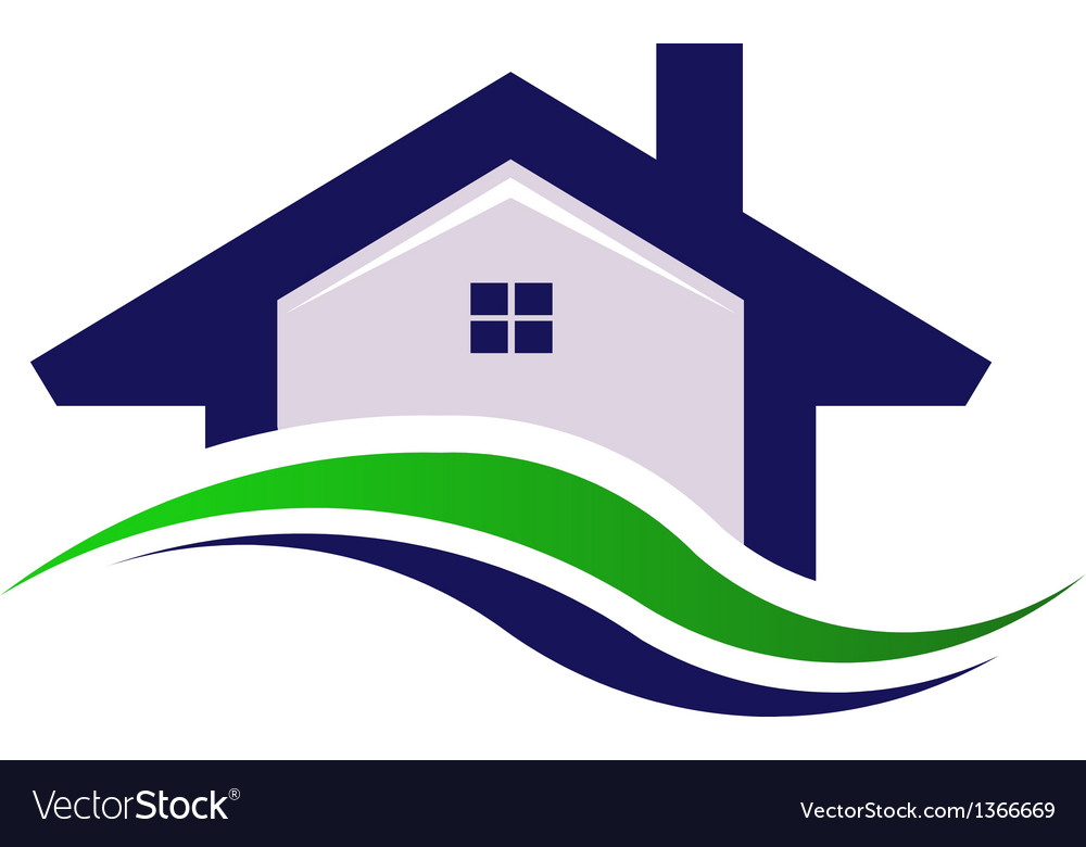 House estate logo design element vector