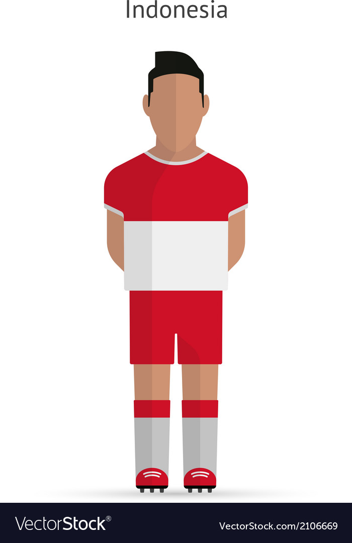 Indonesia football player soccer uniform vector | Price: 1 Credit (USD $1)