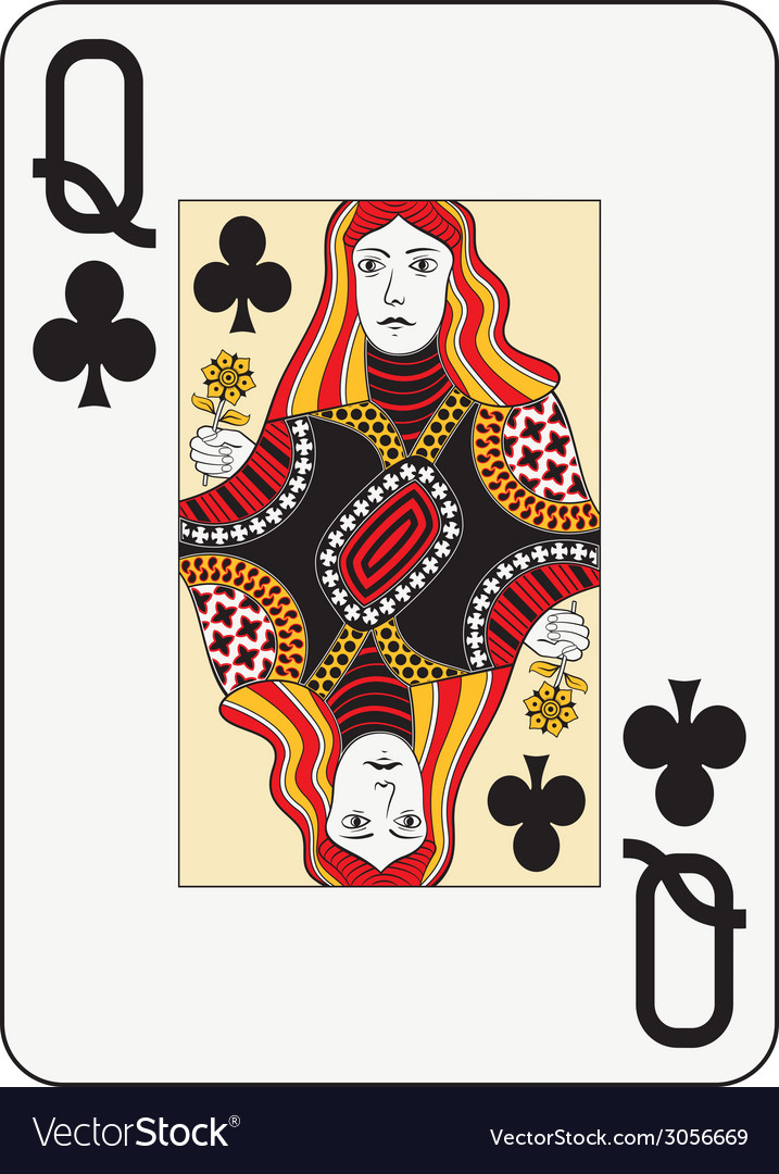 Jumbo index queen of clubs vector | Price: 1 Credit (USD $1)
