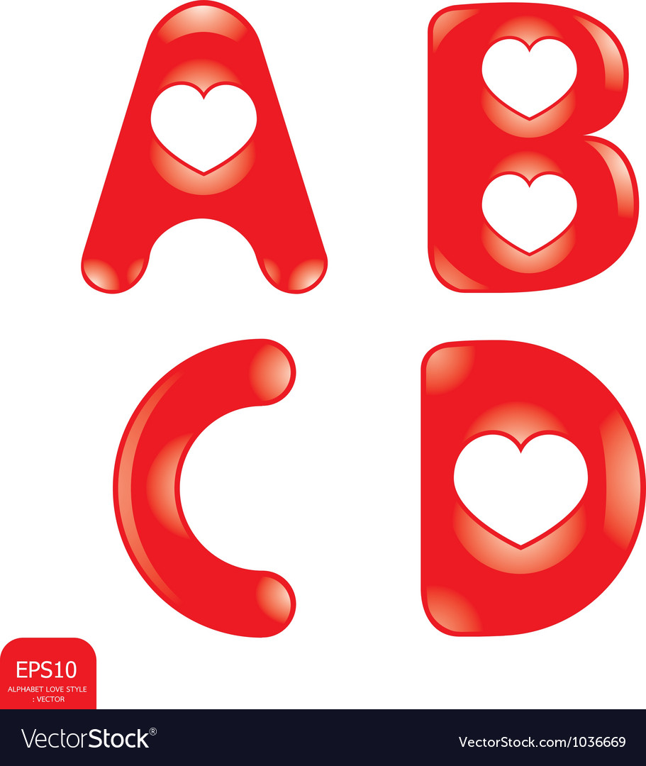Love type vector | Price: 1 Credit (USD $1)