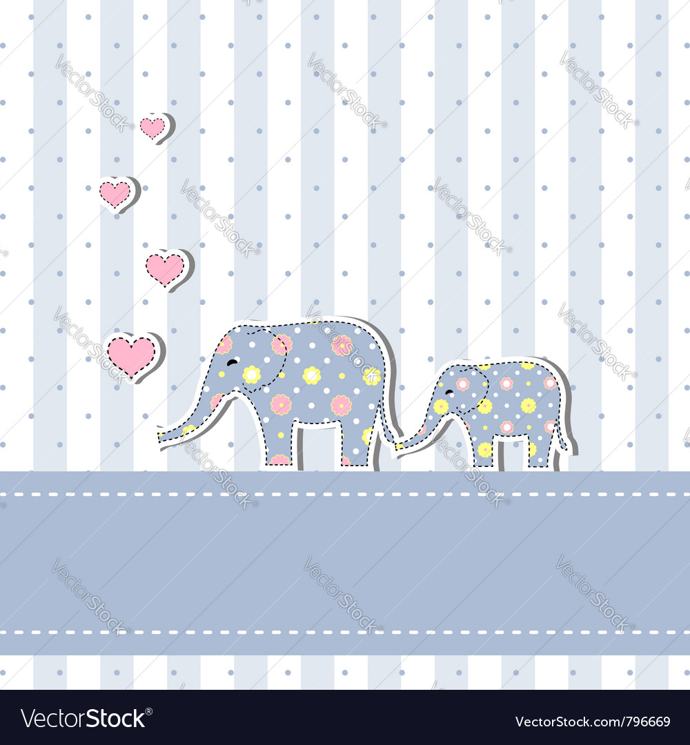 New baby shower invitation card vector | Price: 1 Credit (USD $1)