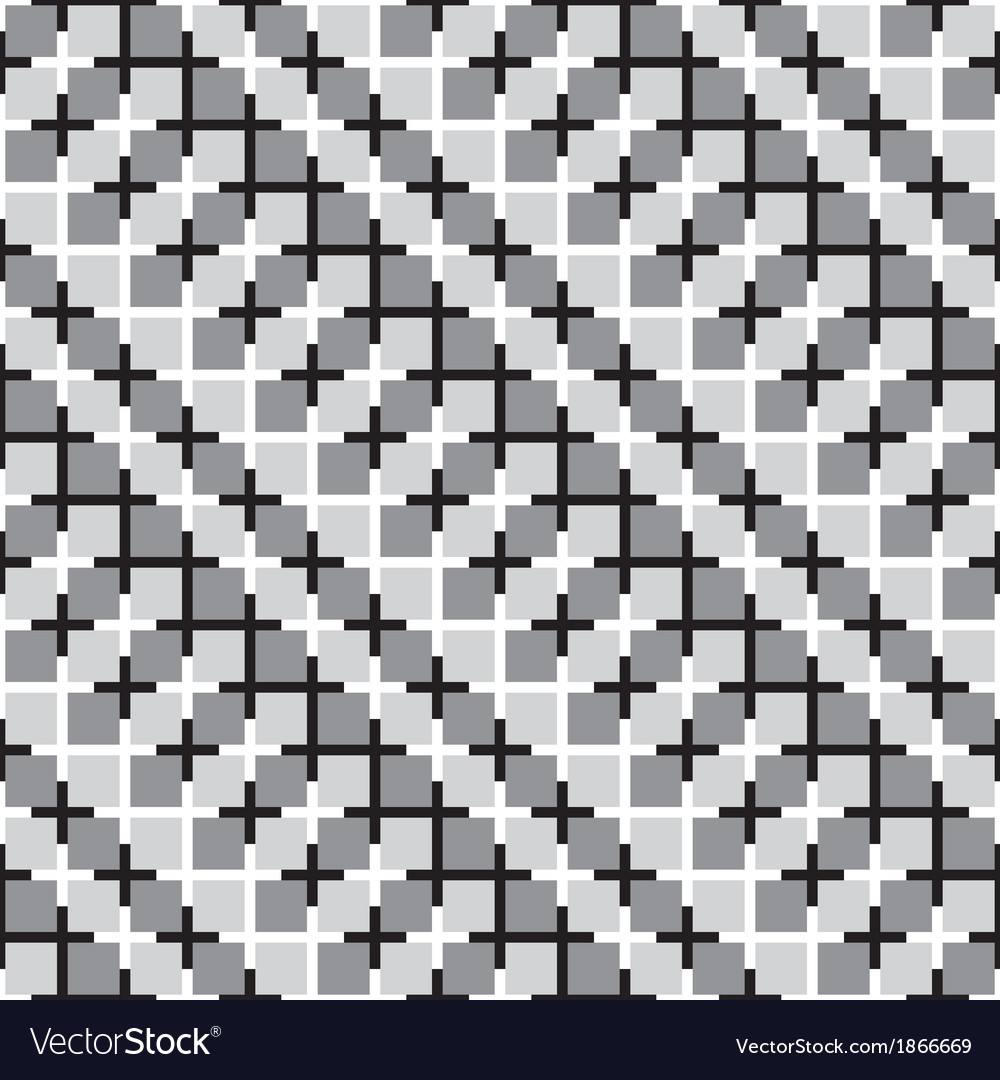 Waving squares optical seamless pattern vector | Price: 1 Credit (USD $1)
