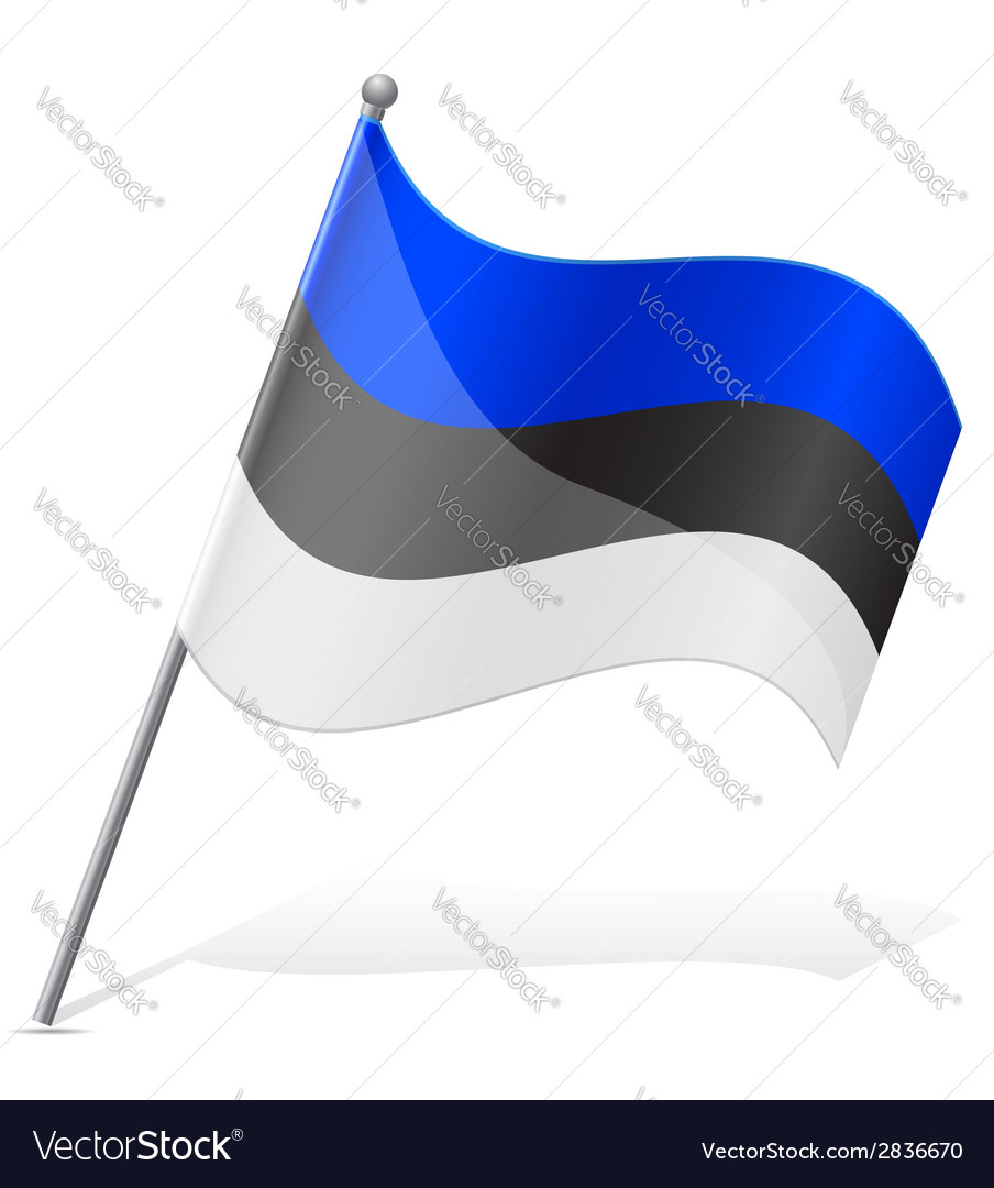 Flag of estonia vector | Price: 1 Credit (USD $1)