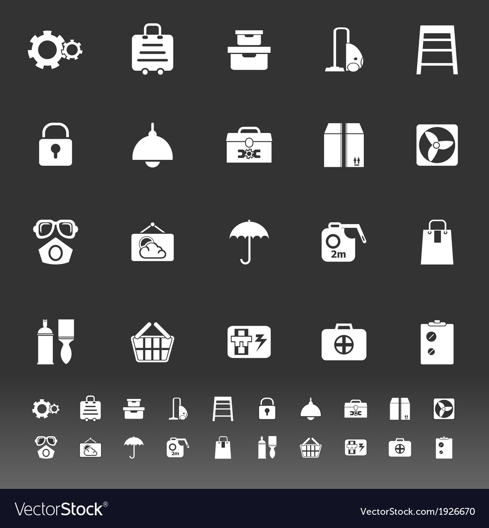 Home storage icons on gray background vector | Price: 1 Credit (USD $1)