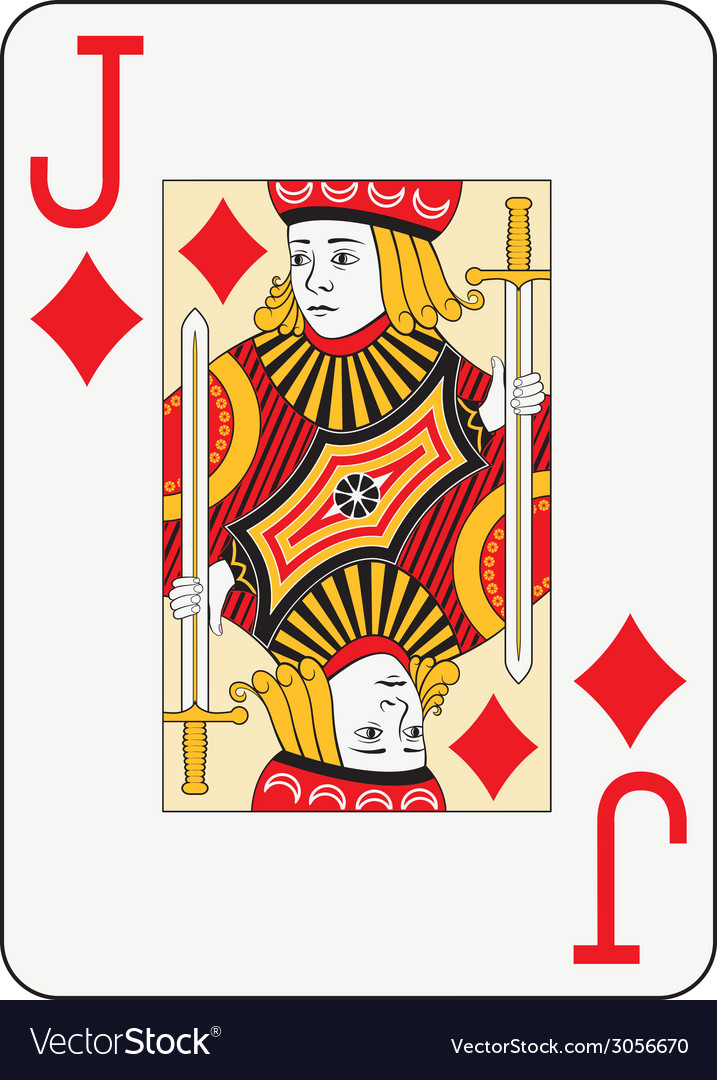 Jumbo index jack of diamonds vector | Price: 1 Credit (USD $1)