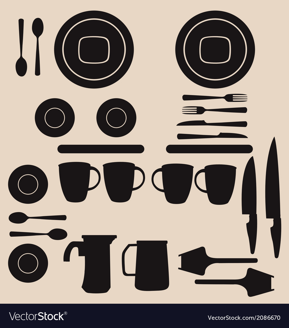 Kitchen utensils and tool icon set vector | Price: 1 Credit (USD $1)