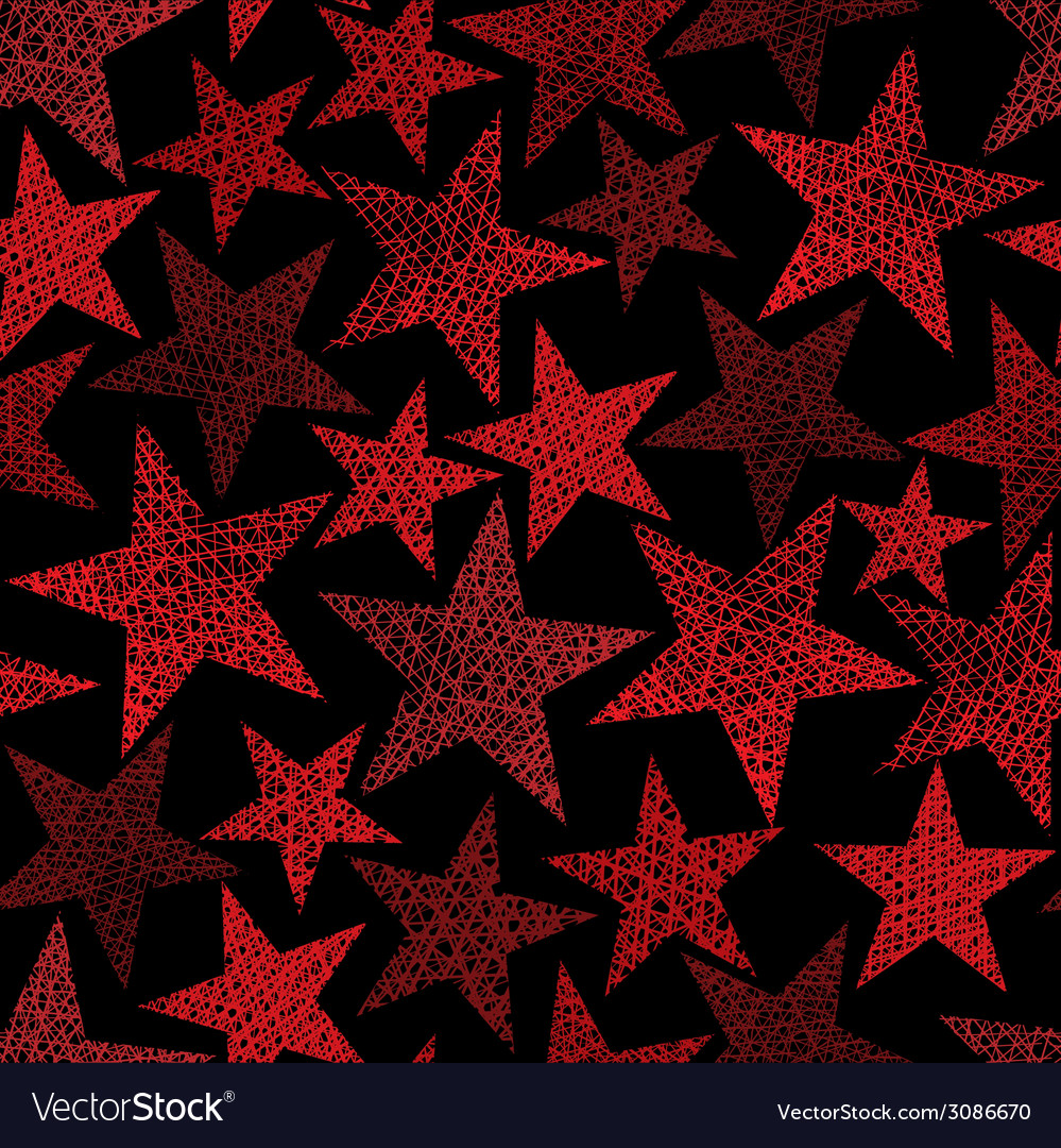 Red stars seamless pattern repeating background vector | Price: 1 Credit (USD $1)