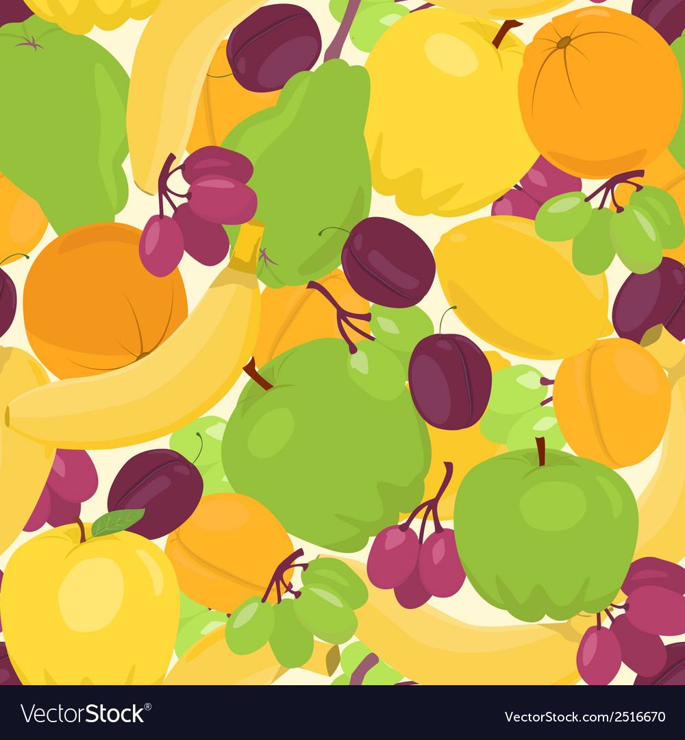 Seamless background with fruits vector | Price: 1 Credit (USD $1)