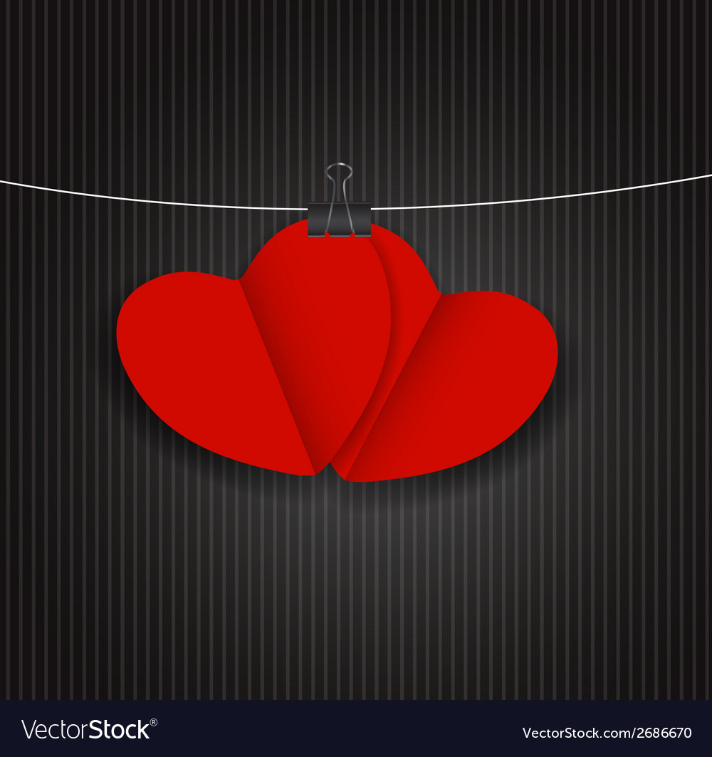Valentines day paper heart backgroung vector | Price: 1 Credit (USD $1)