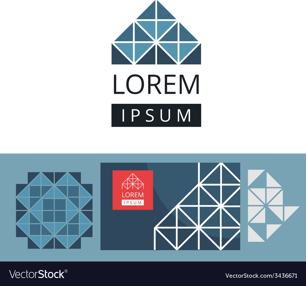 Abstract modern geometric background and logo vector | Price: 1 Credit (USD $1)