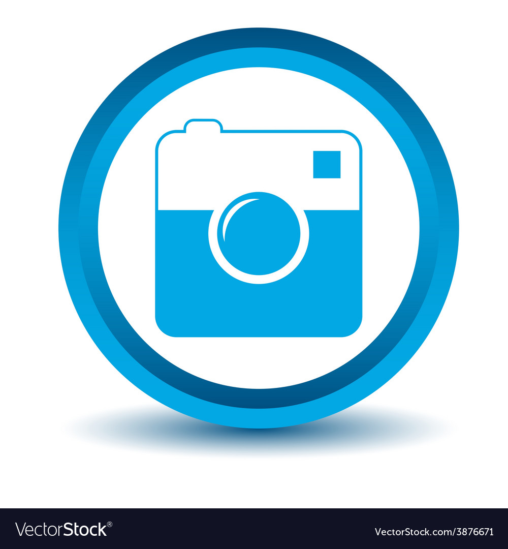 Blue camera icon vector | Price: 1 Credit (USD $1)