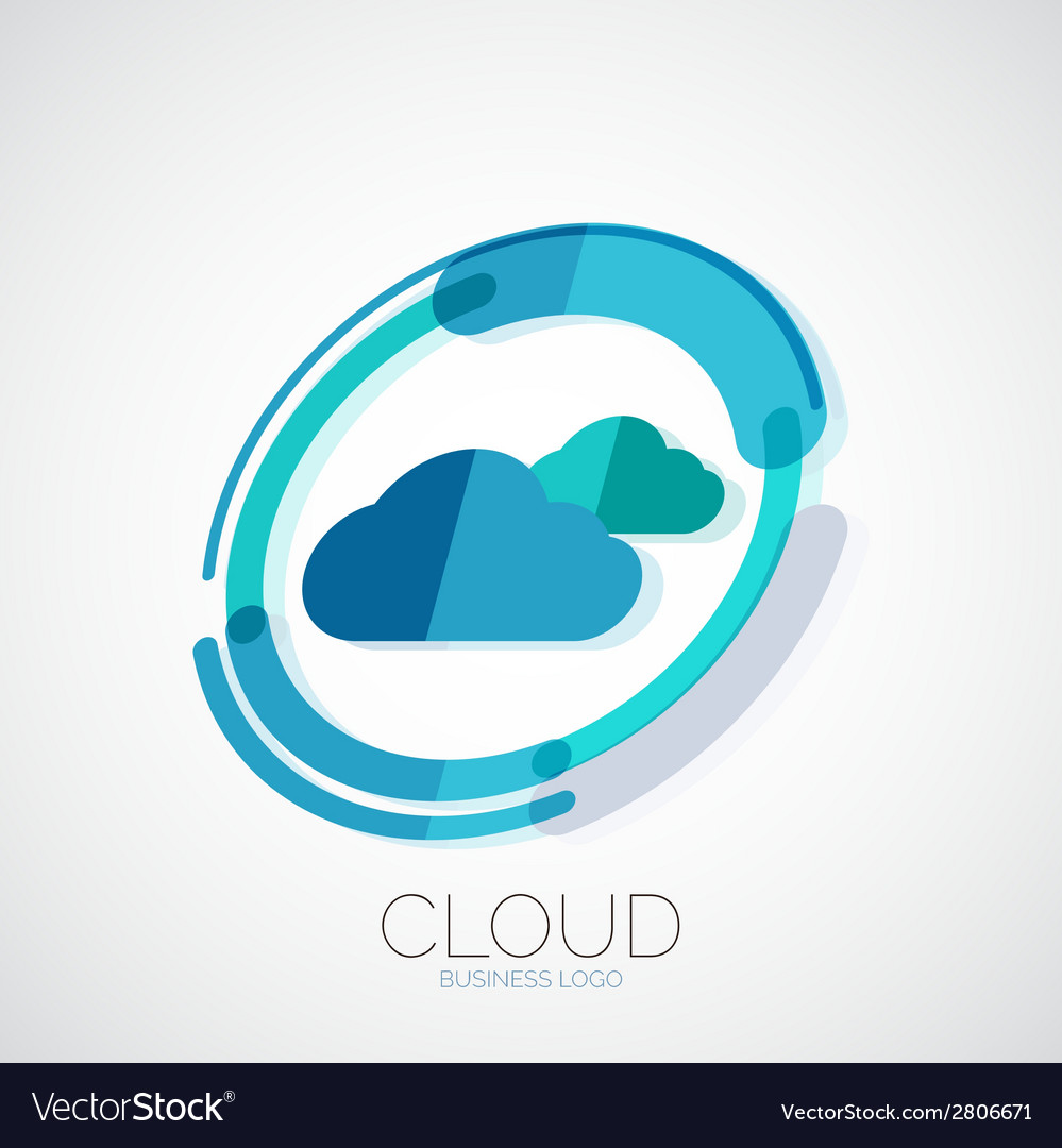 Cloud storage 3d company logo minimal design vector | Price: 1 Credit (USD $1)