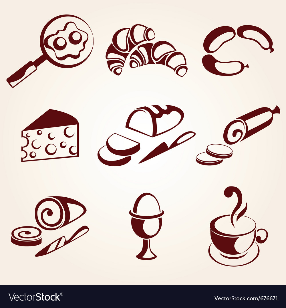Dairy products set vector | Price: 1 Credit (USD $1)