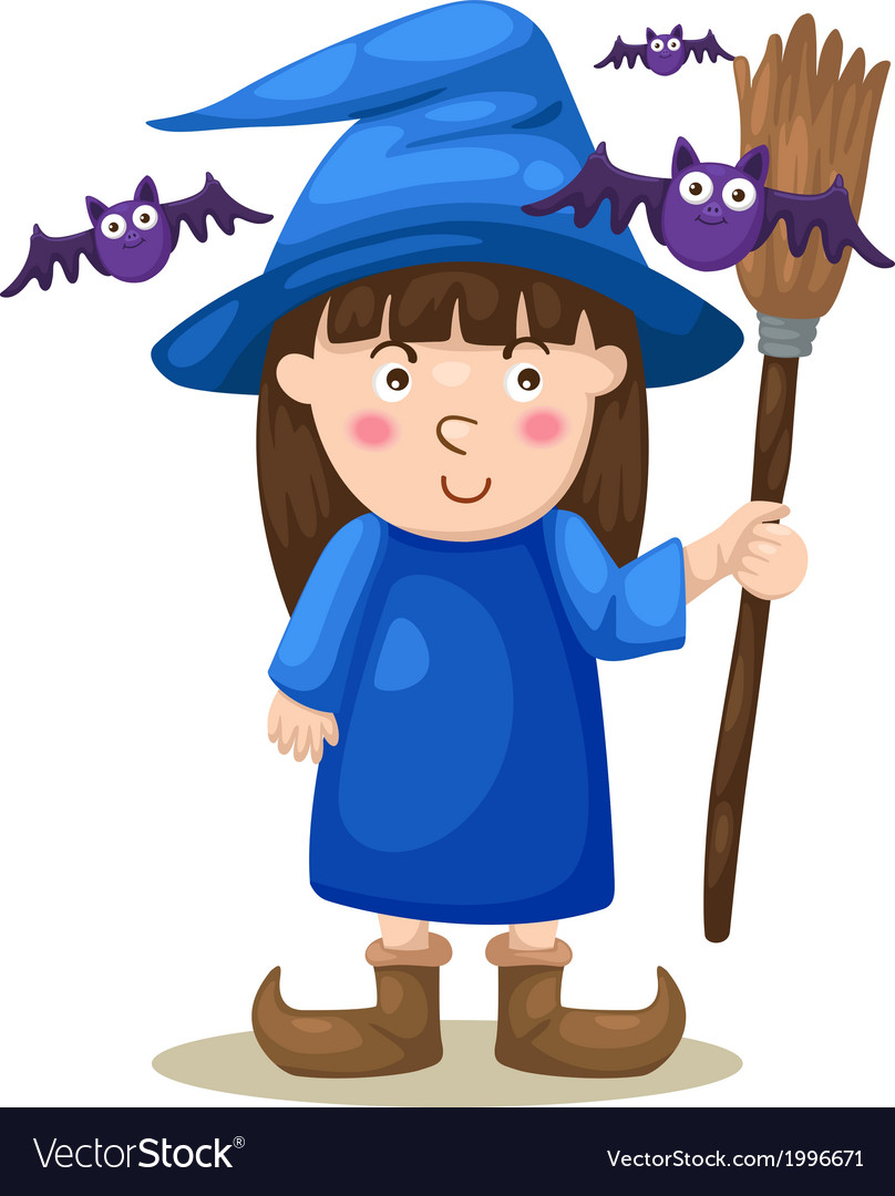 Halloween witch vector   Price: 1 Credit (USD $1)