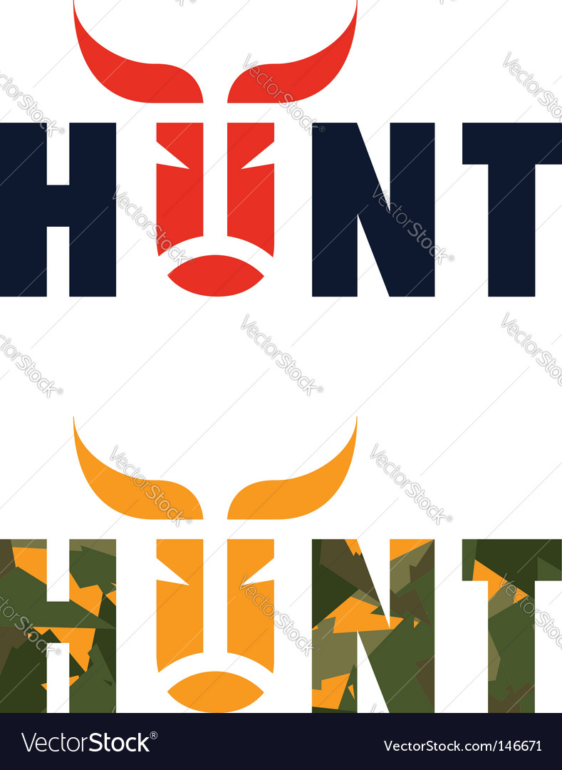 Hunt logo vector | Price: 1 Credit (USD $1)