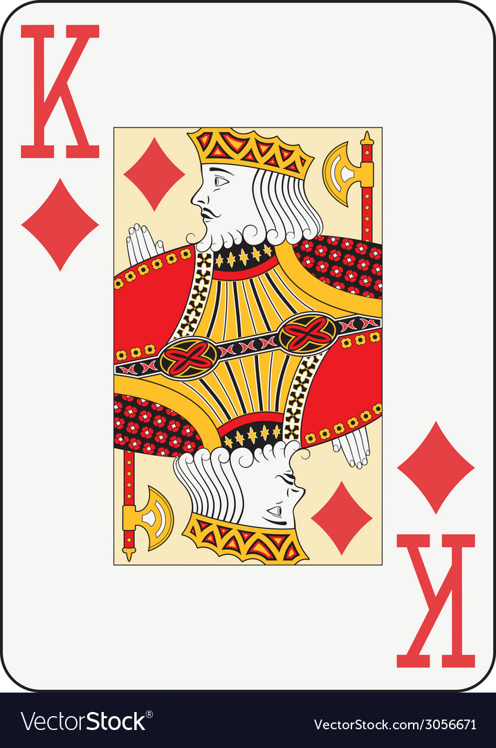 Jumbo index king of diamonds vector | Price: 1 Credit (USD $1)