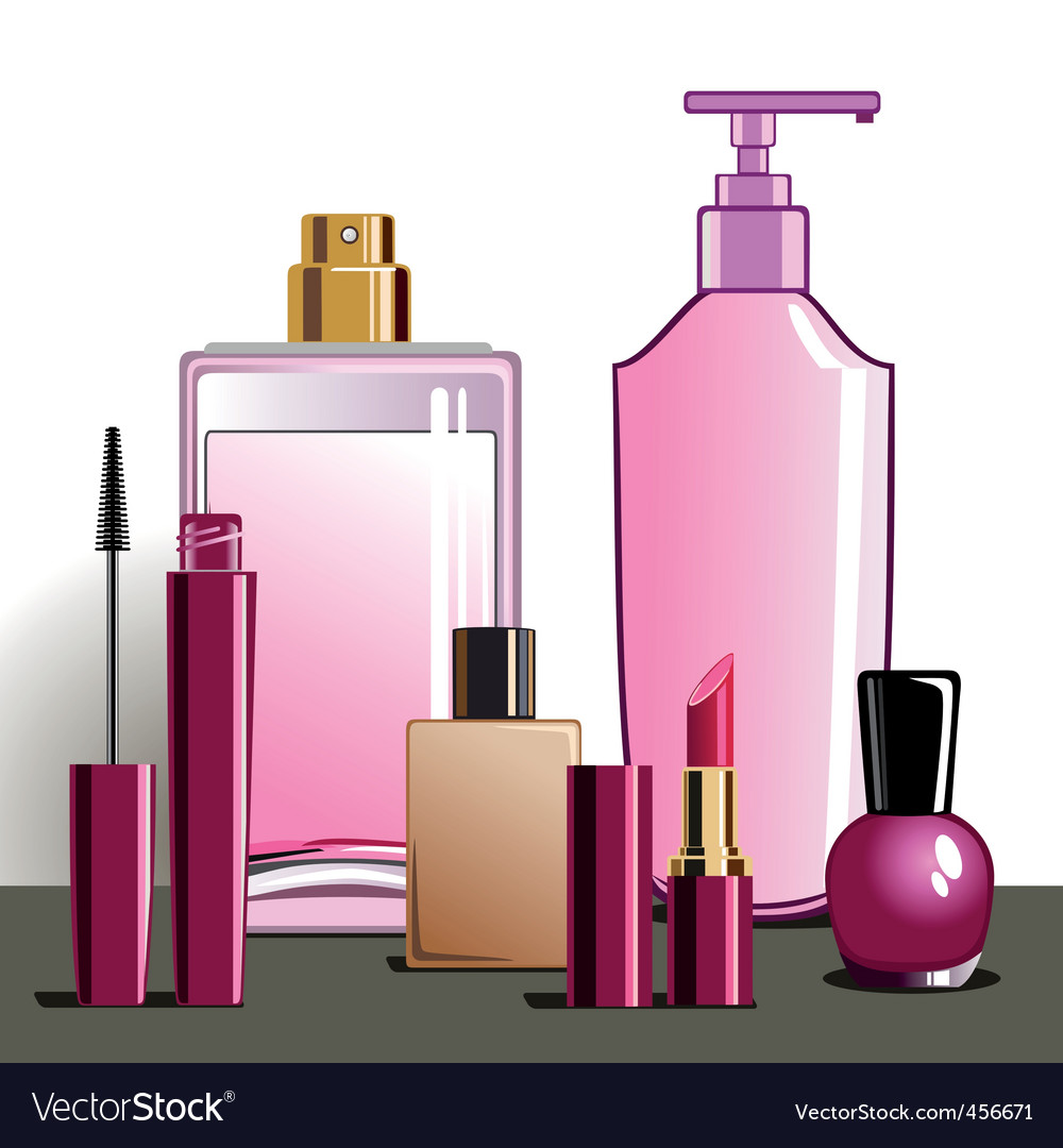Makeup and beauty products vector | Price: 1 Credit (USD $1)