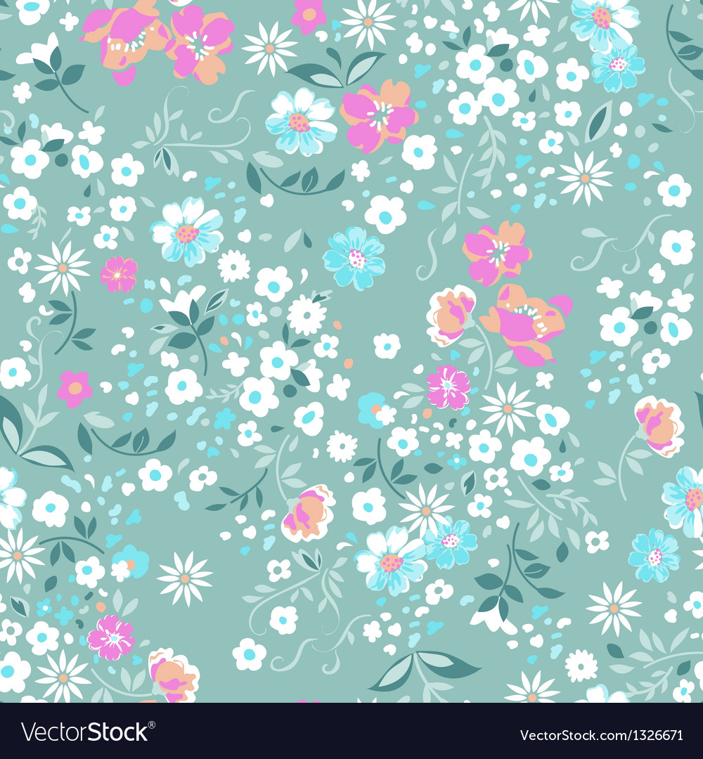 Pastel pink and blue ditsy background vector | Price: 1 Credit (USD $1)