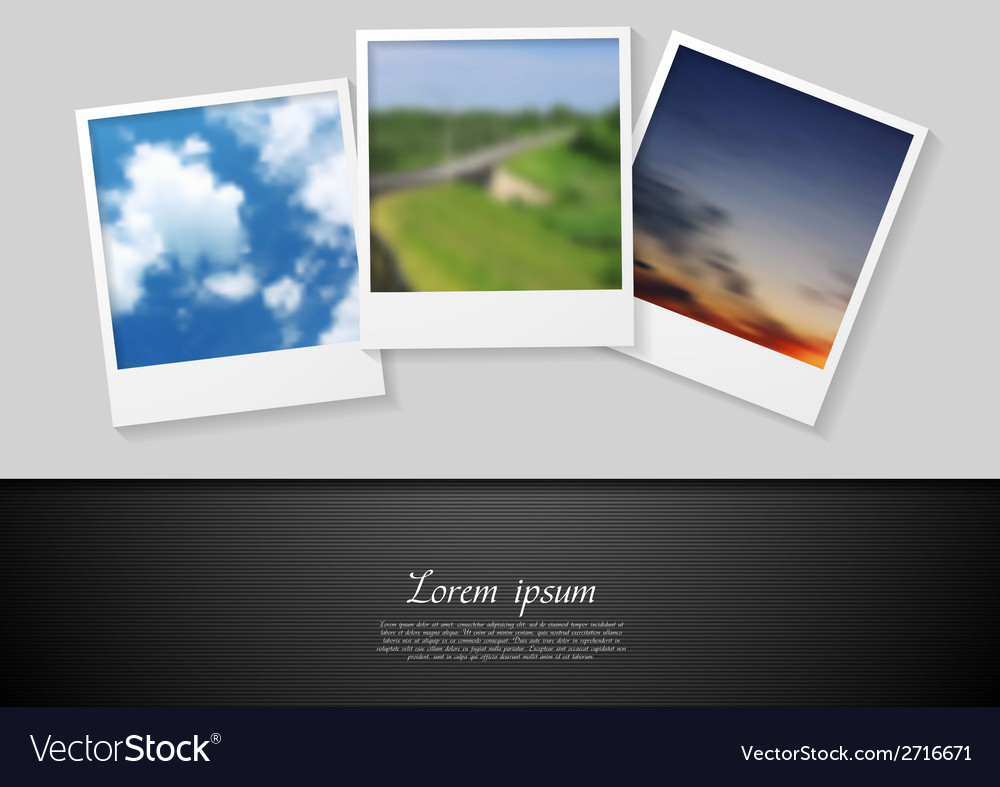 Polaroid photo abstract background vector | Price: 1 Credit (USD $1)