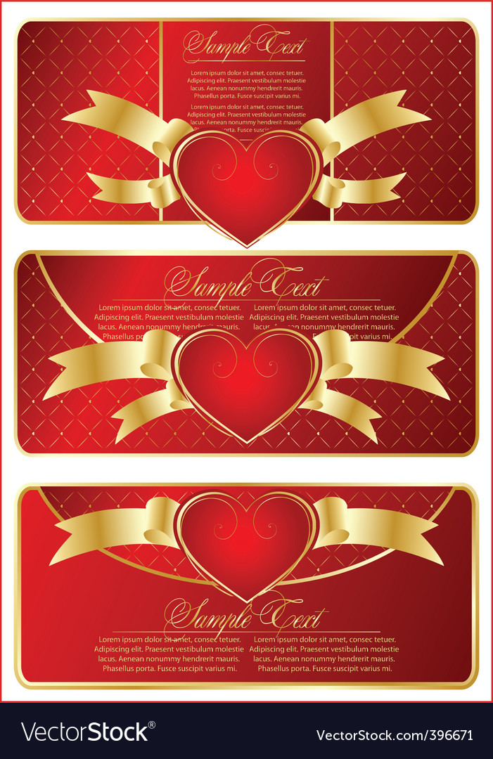 set with valentines banner vector | Price: 1 Credit (USD $1)