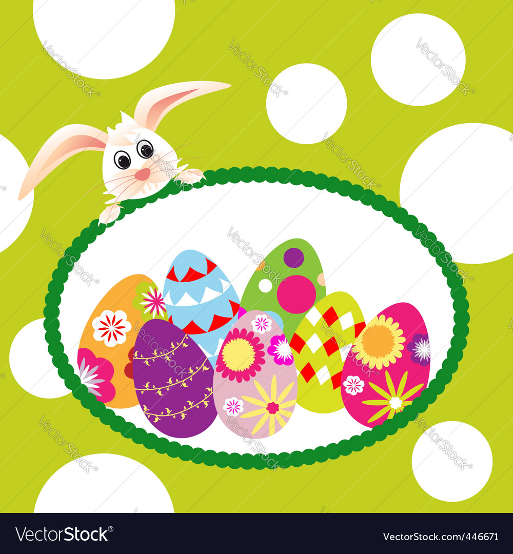 Springtime easter holiday wallpaper vector | Price: 1 Credit (USD $1)