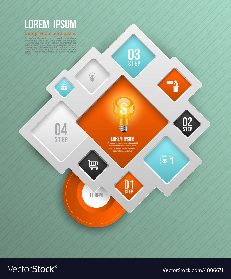 Square concepts with icons vector | Price: 1 Credit (USD $1)