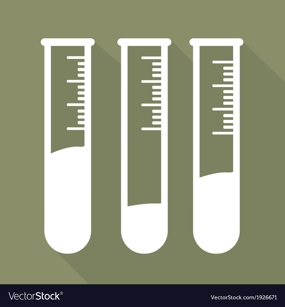 Test tube icon microbiology equipment vector   Price: 1 Credit (USD $1)