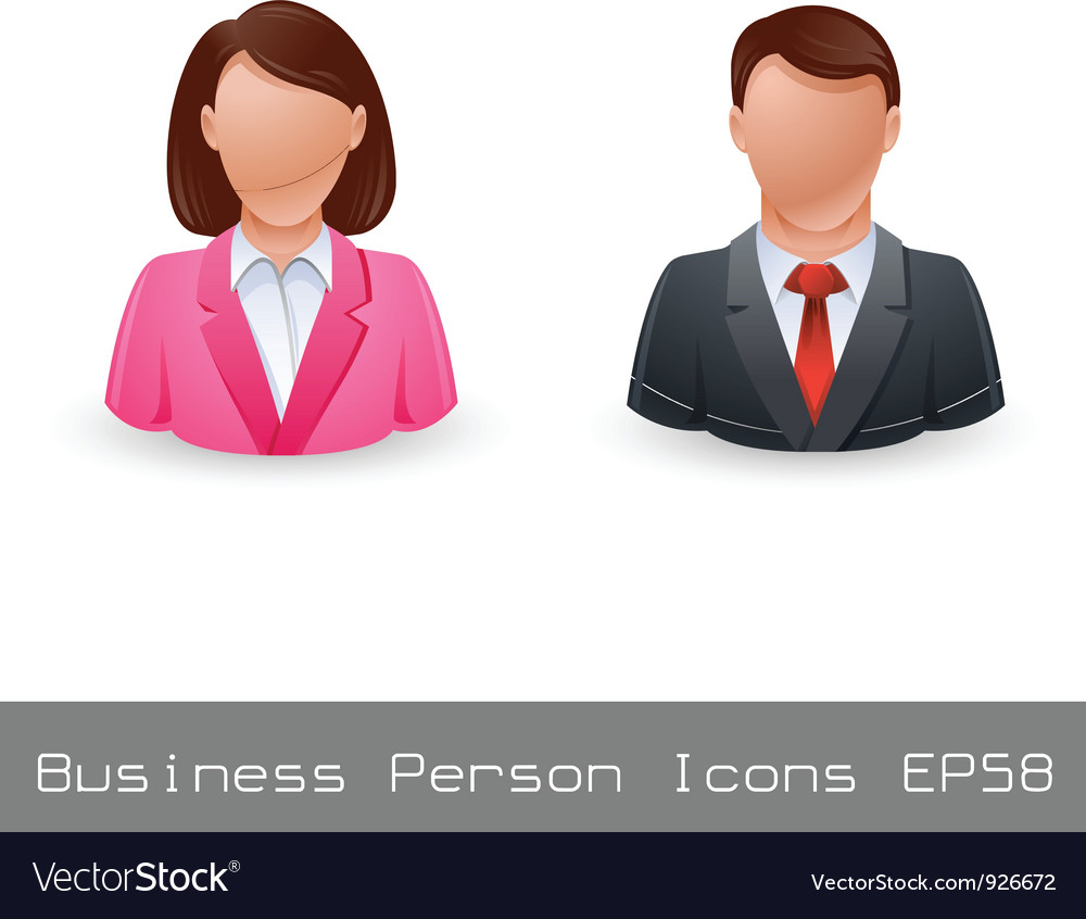 Business person avatar icons vector | Price: 1 Credit (USD $1)