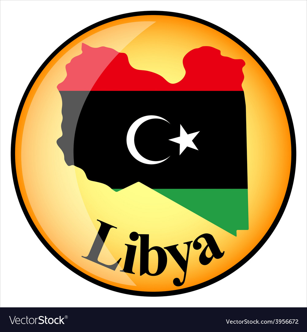 Button libya vector | Price: 1 Credit (USD $1)