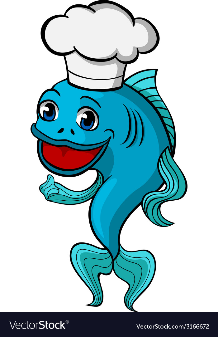 Chef fish vector | Price: 1 Credit (USD $1)