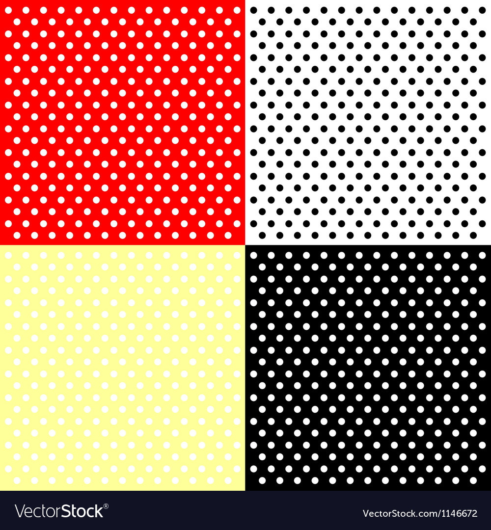 Four polka dots backgrounds vector | Price: 1 Credit (USD $1)
