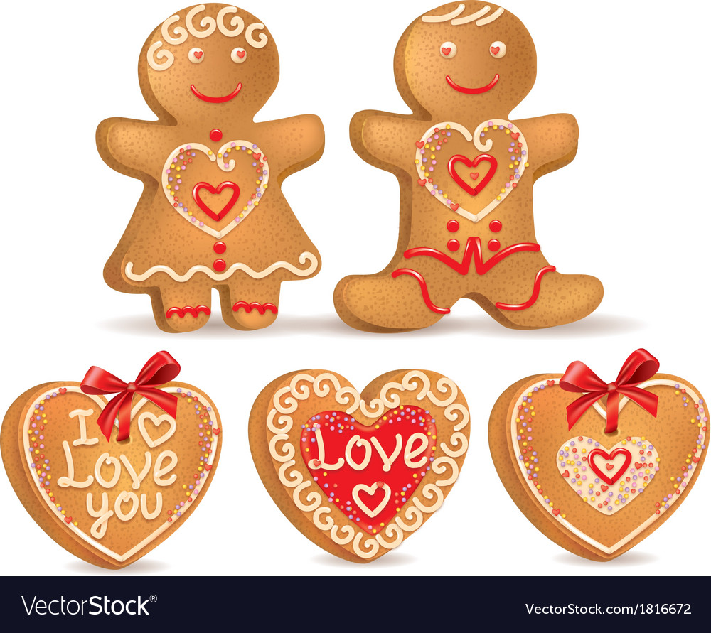 Gingerbread love vector | Price: 1 Credit (USD $1)