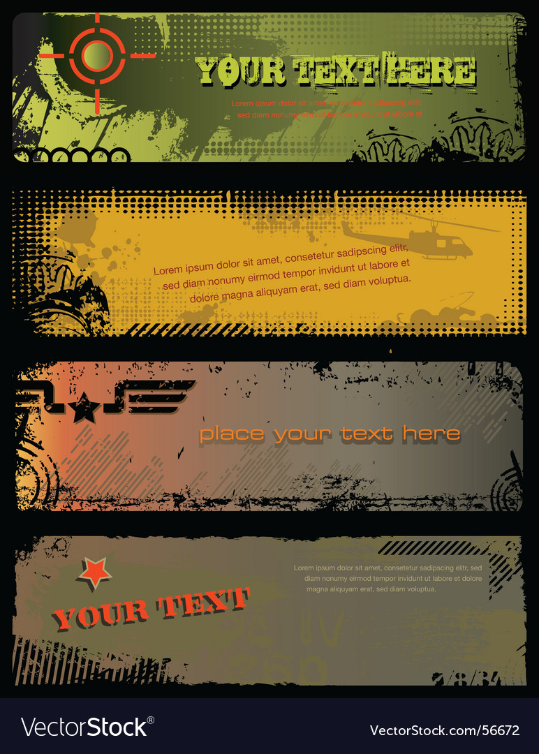 Grunge military banners vector | Price: 1 Credit (USD $1)