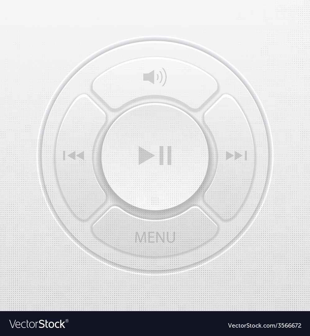 Interface design elements for music player icons vector | Price: 1 Credit (USD $1)