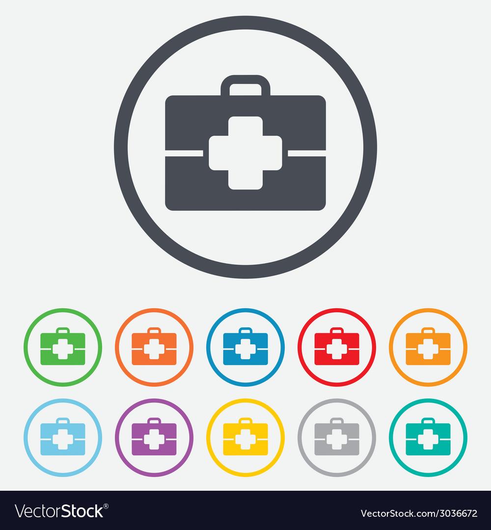 Medical case sign icon doctor symbol vector | Price: 1 Credit (USD $1)