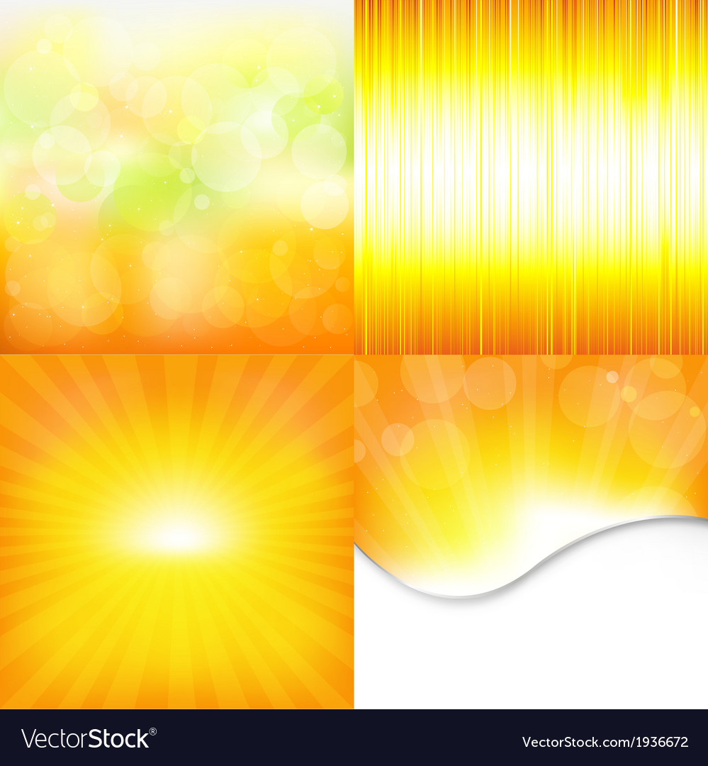 Orange and yellow backgrounds vector | Price: 1 Credit (USD $1)