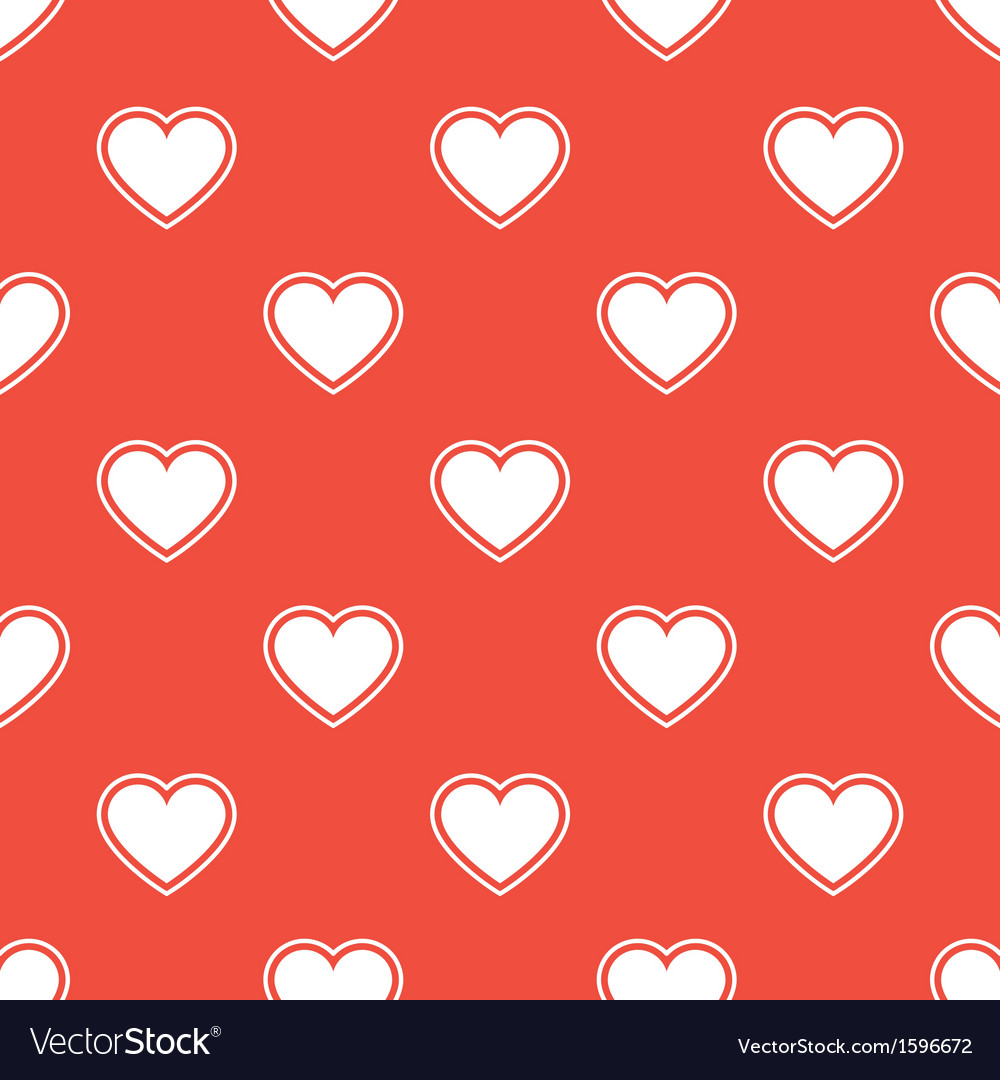 Pattern with white hearts vector | Price: 1 Credit (USD $1)
